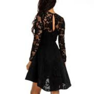 Issue New York Floral Lace Hi - Lo Dress